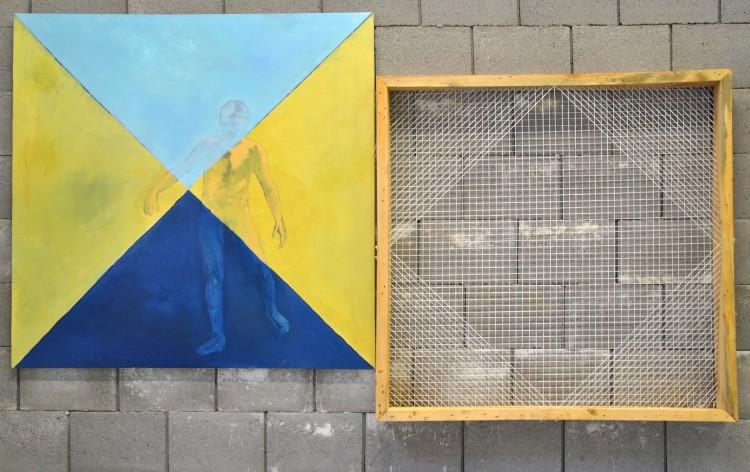 Malířův krok přes diagonálu, instalce dipl.